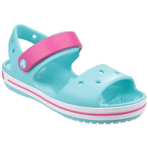 Crocs Crocband Childrens Beach Turquoise/Pink/White